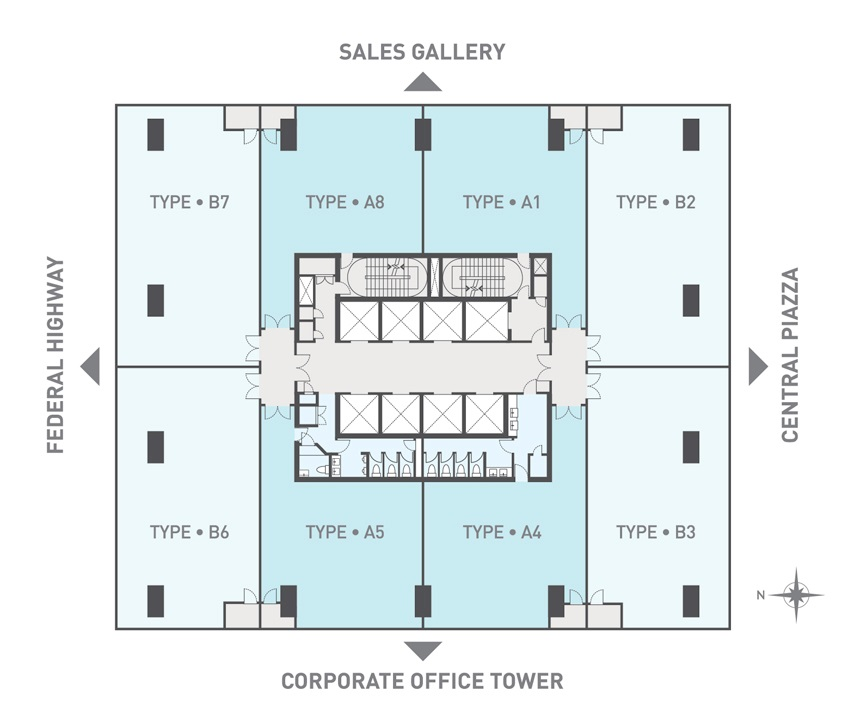 For sale kl gateways corporate office towers kl for Business office floor plans